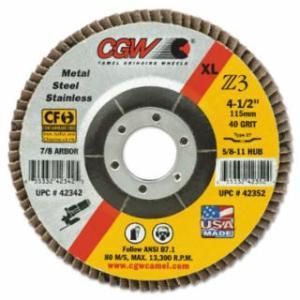 """421-42364 Premium Z3 XL T29 Flap Disc, 4 1/2"""", 60 Grit, 7/8 Arbor, 13,300 rpm"""