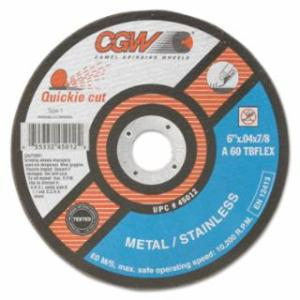 421-45011 Extra Thin Cut-Off Wheel, Type 1, 5 in Dia, .04 in Thick, 60 Grit Alum. Oxide