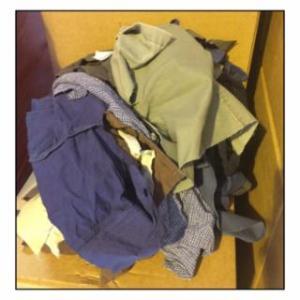 552-105-50 Rags, Assorted Colors, Cotton, 50 lb