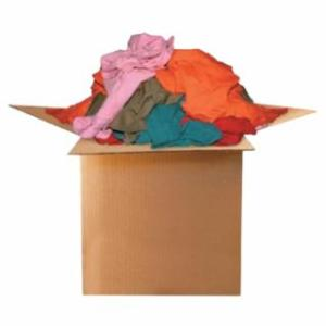 552-118-25 Color Knit T-Shirt Polo Cotton Wiping Rags, 25 lb, Box