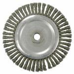 "804-36297 Knot Wire Wheel, 6 7/8"" D x Narrow W, 1/50"" rbon eel Wire, 9,000 RPM"