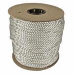 811-530080-01200 Twied Nylon Ropes, 1/4 in x 1,200 ft, Nylon, White