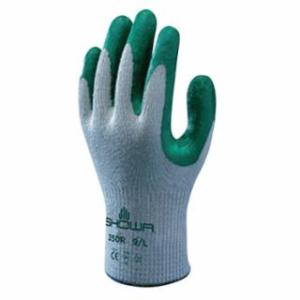 845-350L-09 Atlas Fit 350 Nitrile-Coated Gloves, Large, Gray/Green