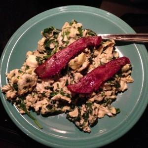 Breakfast Salad w/Bacon