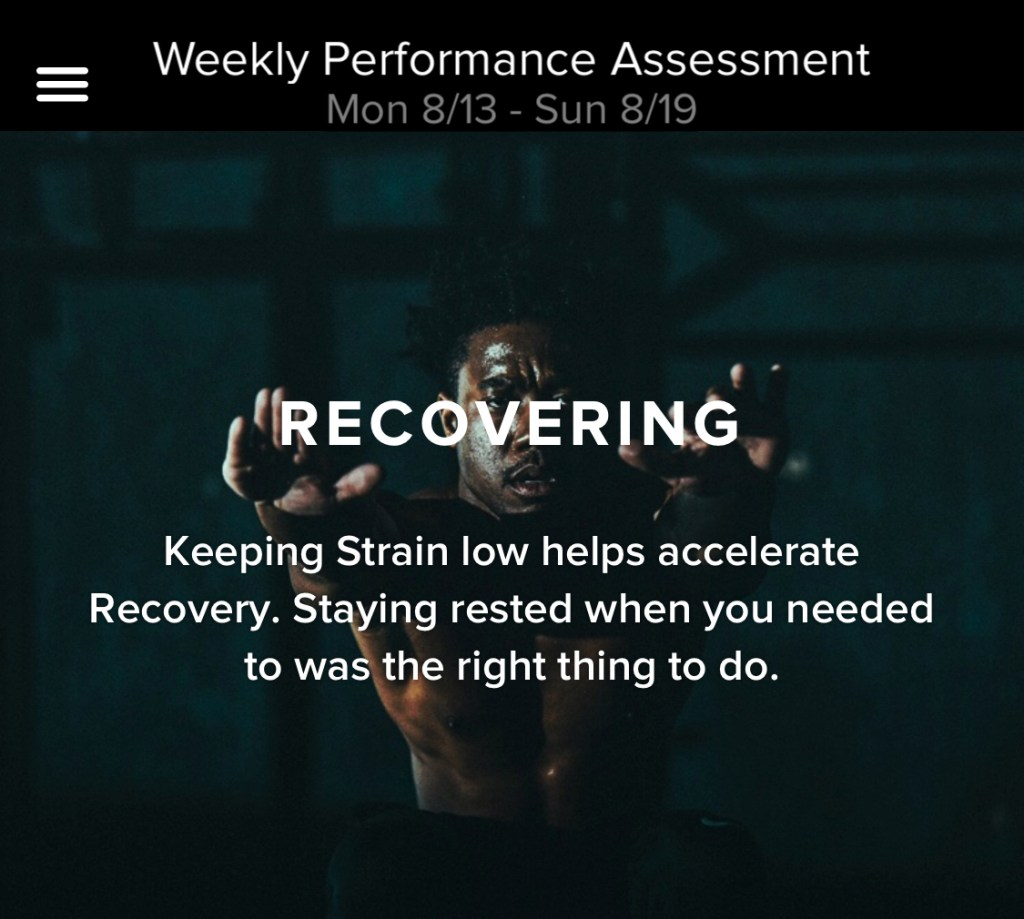 New feature: WHOOP Weekly Performance Assessment