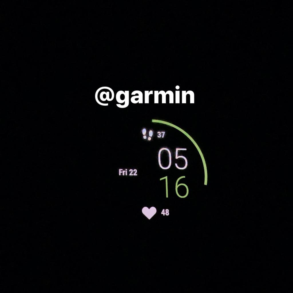 Garmin watch at 5:16 am