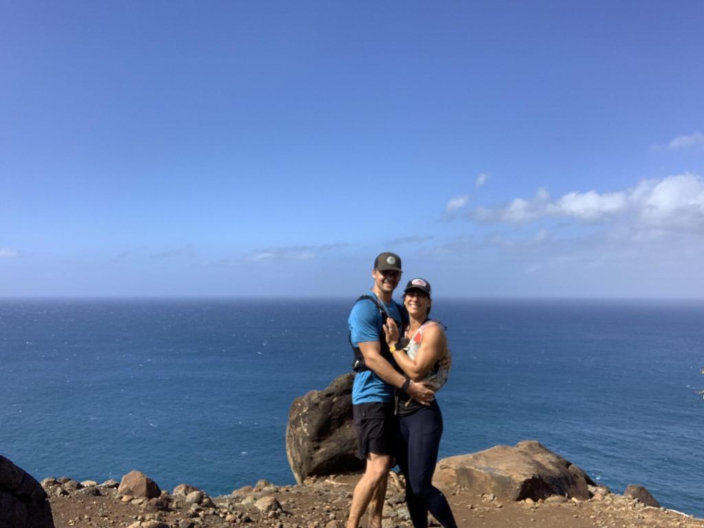 Joe and Emily after finishing the Napali Coast Trail