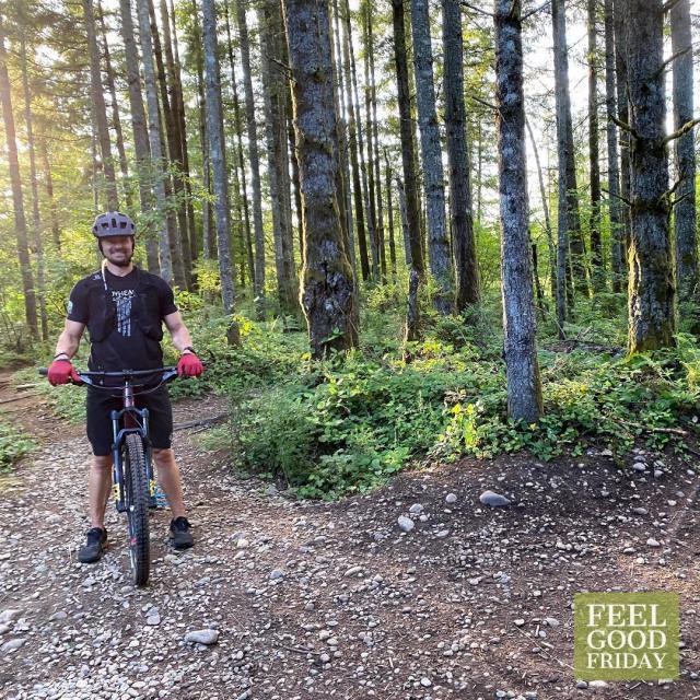 Feel Good Friday - Movement - Michael Jordan - Energy with Joe Bauer mountain biking at the Black Diamond trail system