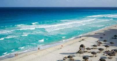 カンクン東側のビーチ