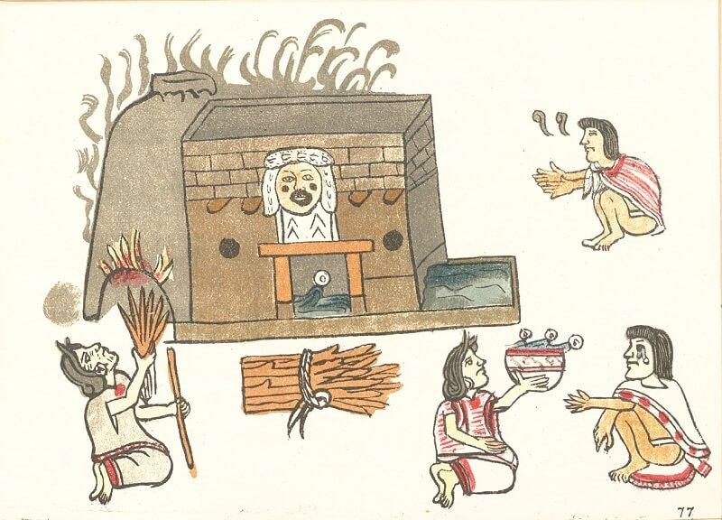 古文書に描かれるテマスカル