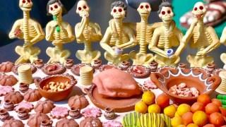 死者の日の骸骨フィギュア