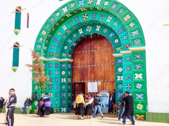 サンファン・チャムラの教会の入り口