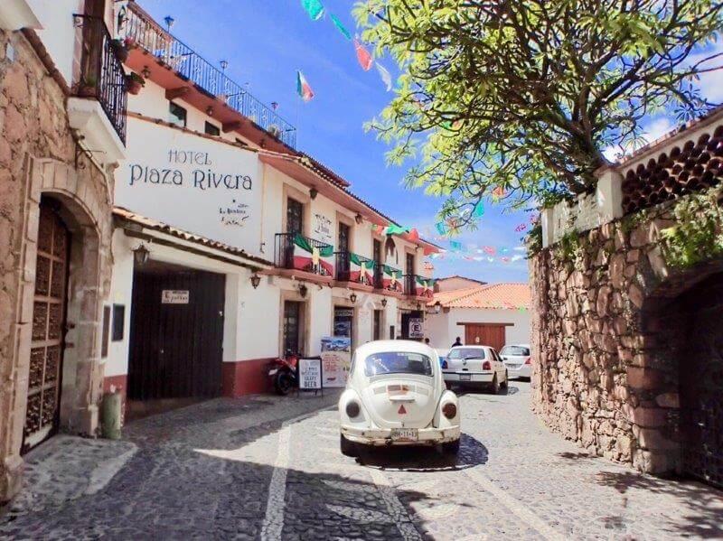 タスコの美しい街並み