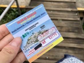 実際のハニツィオ島への行き方(ボートのチケット)