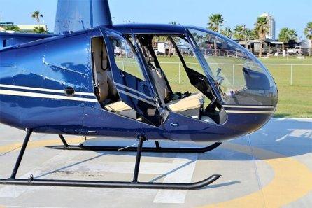 地上のヘリコプター