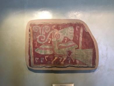 テオティワカン遺跡の壁画博物館 鳥の絵