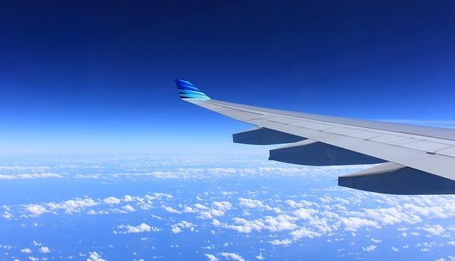 飛行機の羽根