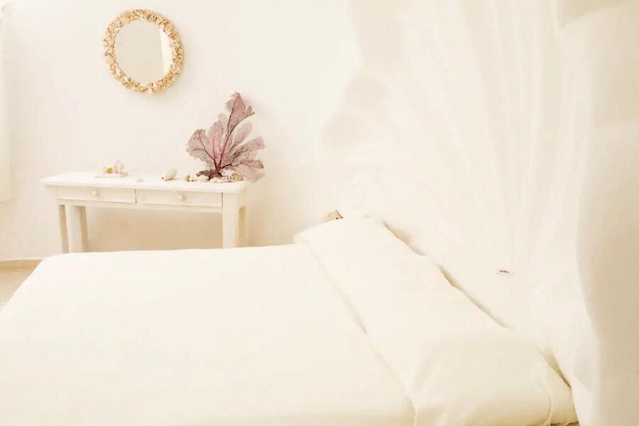 メキシコ、イスラムへーレス島のシェルハウス(貝殻の家)寝室3