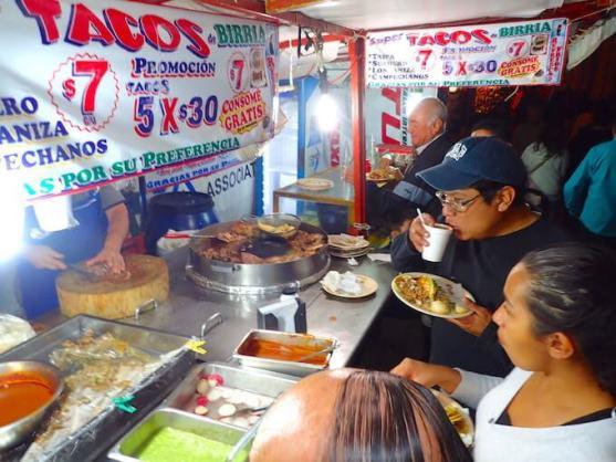 メキシコシティのタコス屋台3