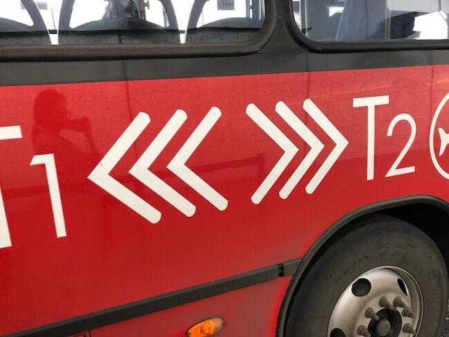 メキシコシティ空港ターミナル間移動のバス6
