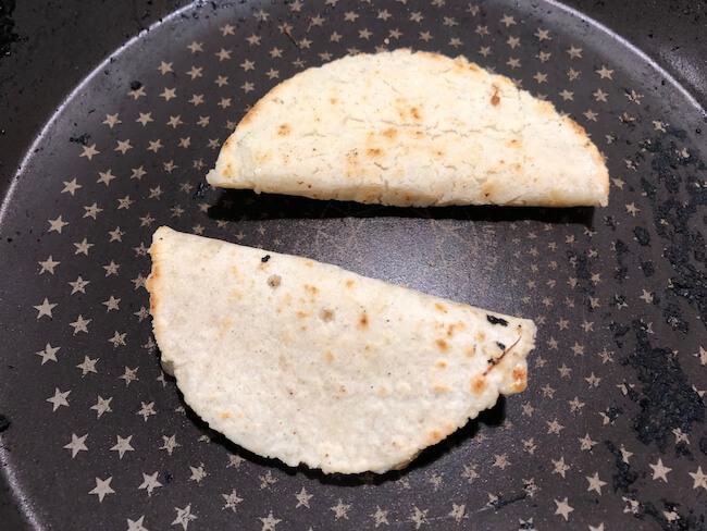 さけるチーズを使ったケッサディーヤの作り方3