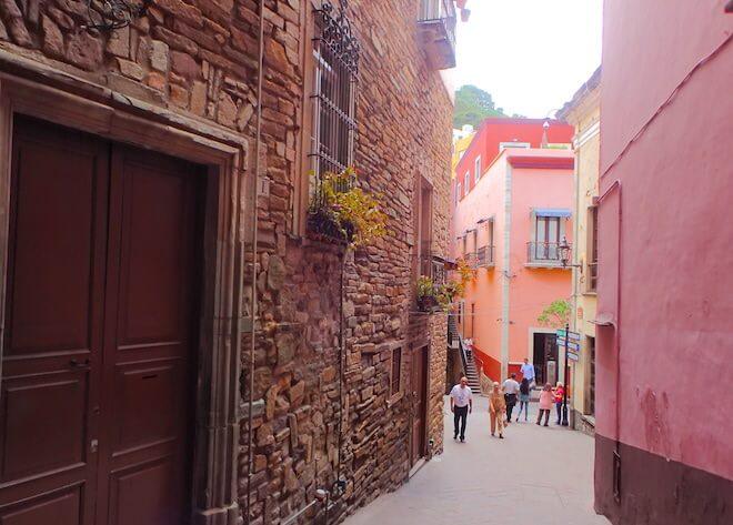 グアナファトの中世の街並みが残った一角