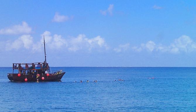 コスメル島の海辺