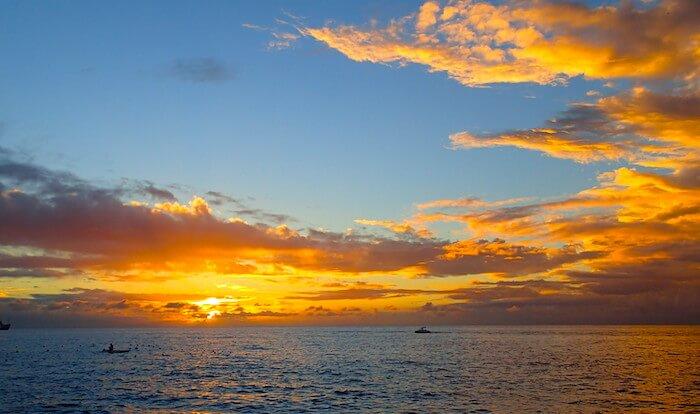 コスメル島の綺麗な夕日