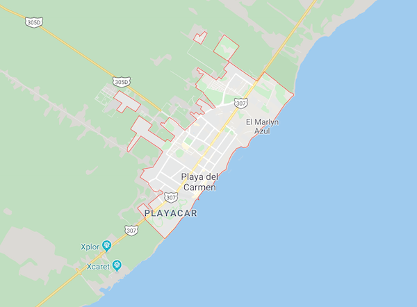 プラヤデルカルメンの地図