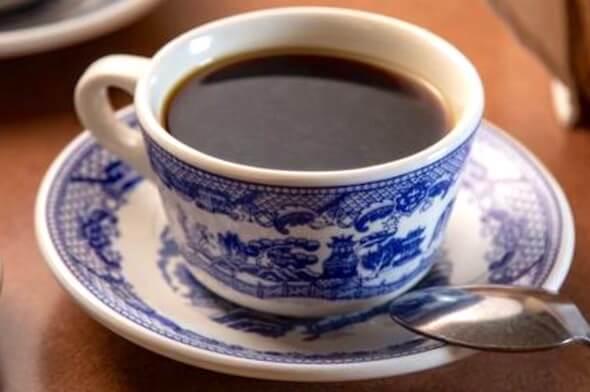 サンボーンのカフェのコーヒー(青いタイルの家)