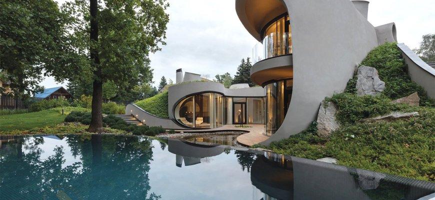 Дом в стиле био-тек