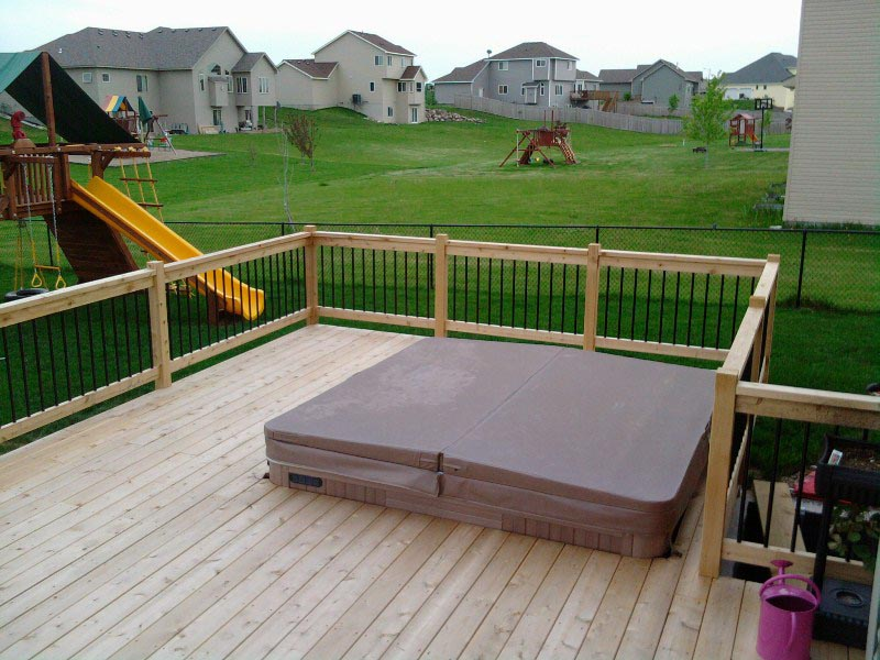 Deck Around Hot Tub | Backyard Design Ideas on Deck And Hot Tub Ideas  id=40954