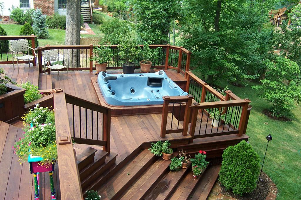 Deck Design Hot Tub | Backyard Design Ideas on Deck And Hot Tub Ideas  id=15709