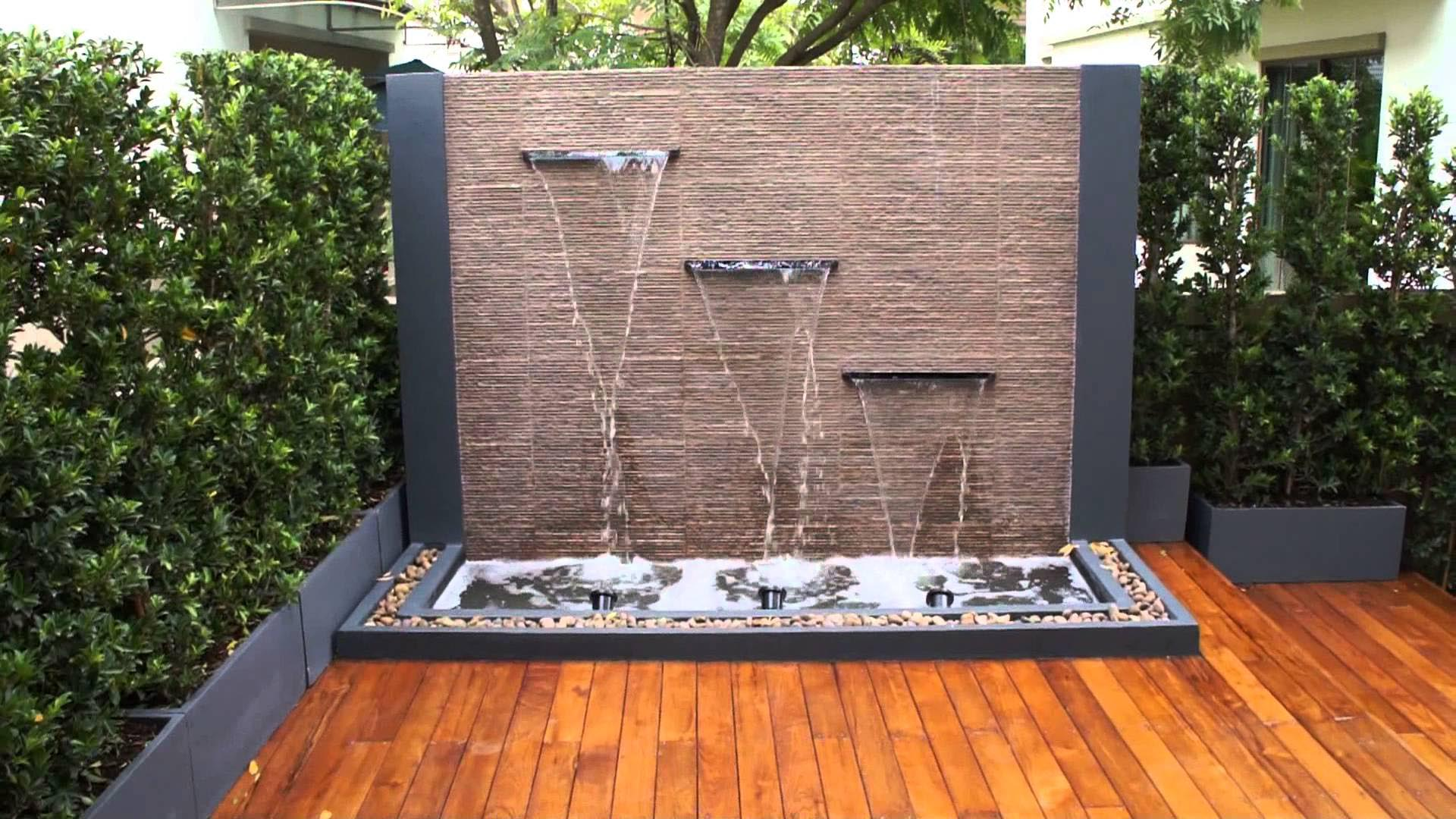 DIY Water Feature Wall | Backyard Design Ideas on Backyard Feature Walls  id=87051