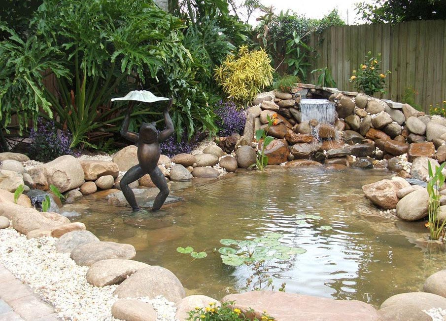 What it Takes to Build a Garden Pond Waterfall | Backyard ... on Small Backyard Pond With Waterfall id=53533