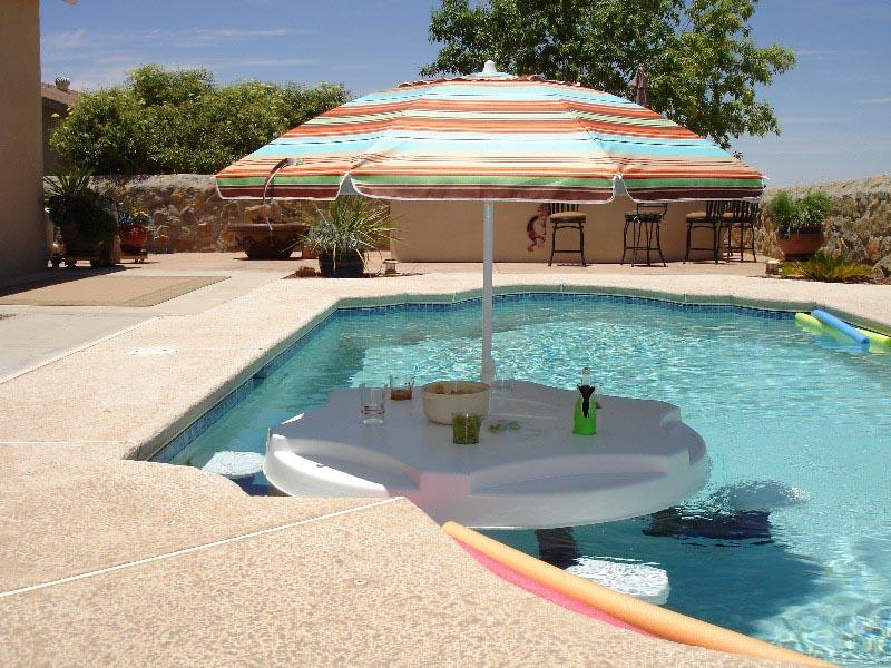 Aquapub Floating Pool Bar   Backyard Design Ideas on Backyard Pool Bar Designs id=75733