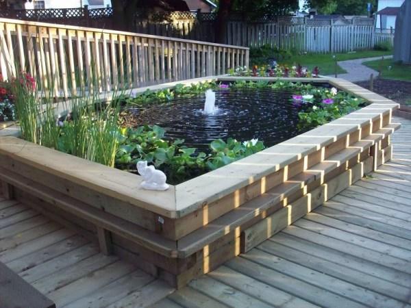raised koi pond garden Raised Garden Fish Ponds | Backyard Design Ideas