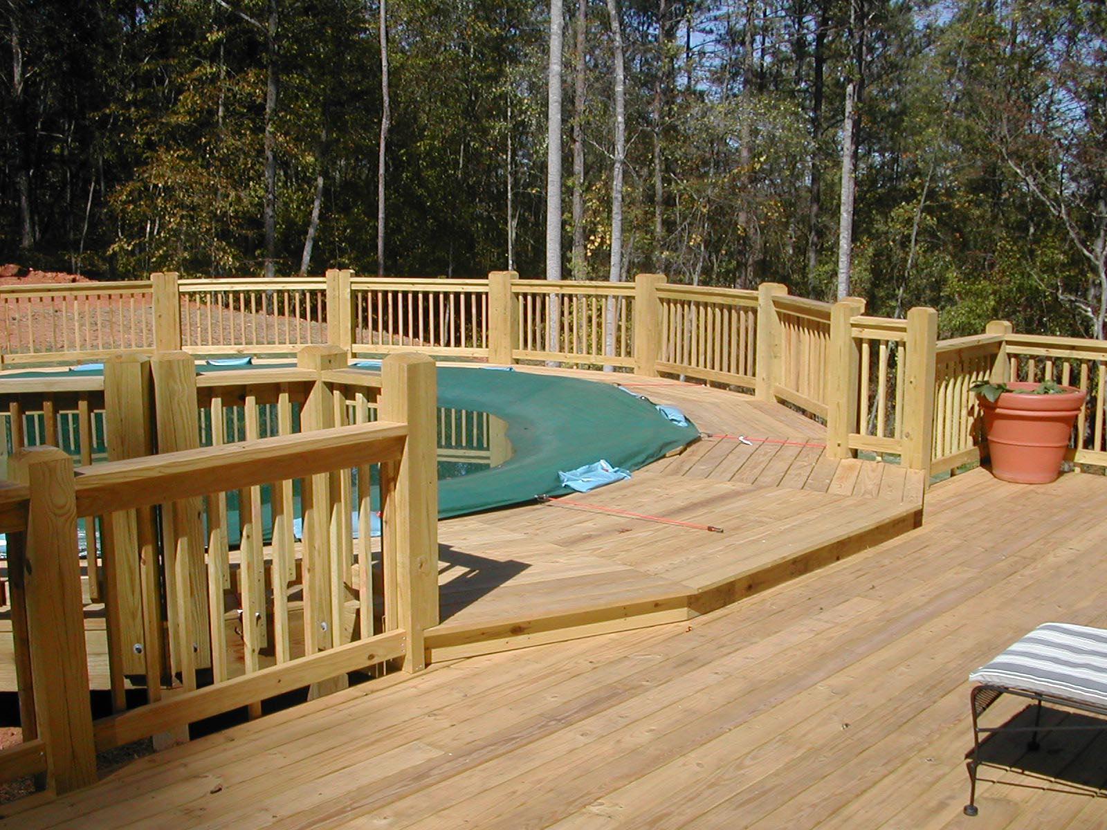 Swimming Pool With Deck | Backyard Design Ideas on Pool Deck Patio Ideas  id=58529