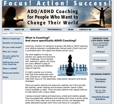 adhd- web design after