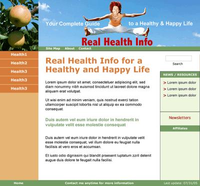 web design template and custom l&f