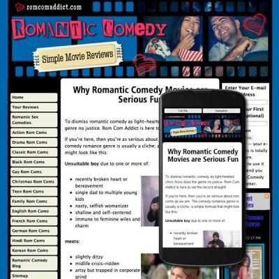 Custom website design responsive for Movie Reviews
