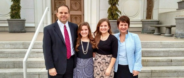 Micheal, Anna, Emily and CaMarie Hoffman at the Bountiful Temple