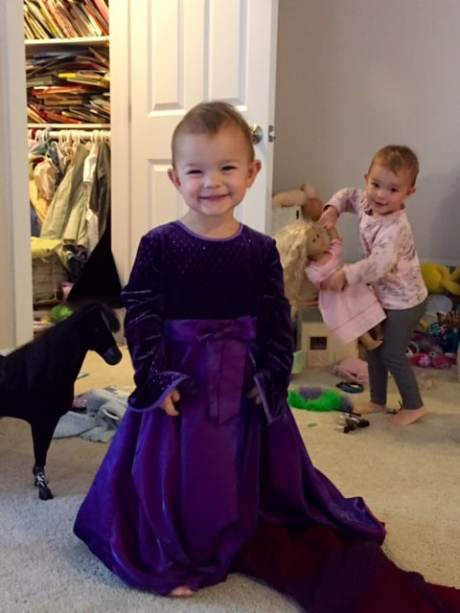 adelynn in purple princess gown