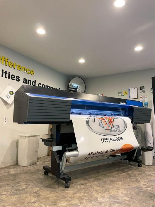 Wide Format Printer working - Sign Solutions Alberta