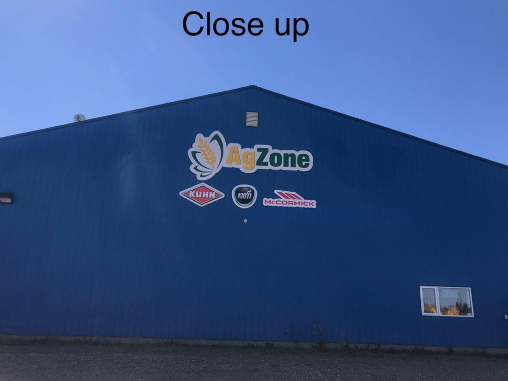 ag zone new sign
