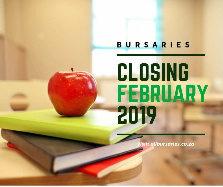 Bursaries Closing in February 2019
