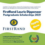 FirstRand Laurie Dippenaar Scholarship 2021