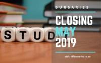 South Africa Bursaries Closing in May 2019
