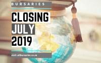 Bursaries Closing in July 2019