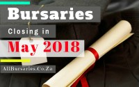 South Africa Bursaries Closing May 2018
